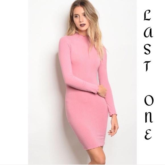 41fda811091 🎉CLEARANCE🎉 Rose Long Sleeve Turtleneck Dress